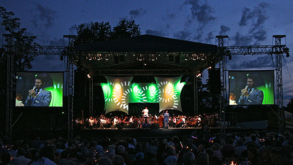 outdoor concert lighting